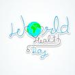 摘要世界卫生日的概念 在灰色的背景和世界时...