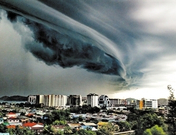 出现云朵怪象